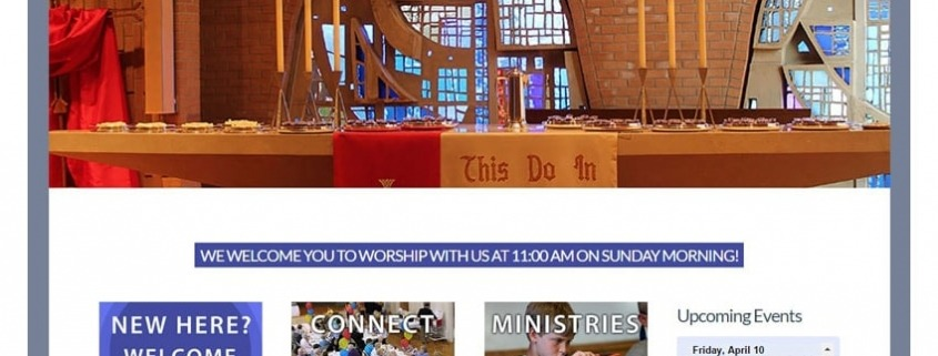 First Presbyterian Church Website Design Edge360 Creative