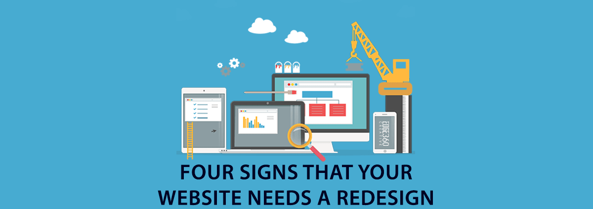 four signs for website redesign